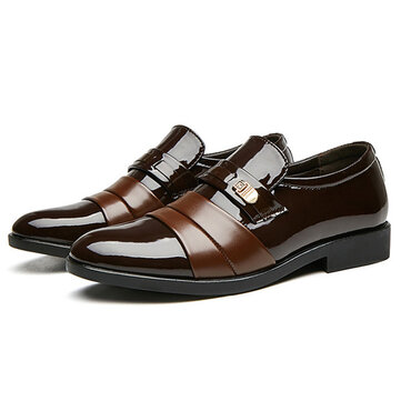 Men Lightweight Casual Daily Business Office Leather Oxfords