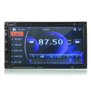 7 inch Dubbele Din Auto DVD / USB / SD-speler Bluetooth Radio AUX HD Camera Touch Screen