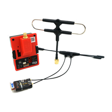 Frsky R9M 2019 900MHz Long Range Transmitter Module and R9 Slim+ Receiver with Mounted Super 8 and T antenna