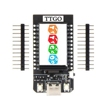 Módulo TTGO T-Exibição ESP32 CP2104 WiFi Bluetooth 1,14 polegadas LCD Placa de desenvolvimento LILYGO para Arduino - produtos que funcionam com placas oficiais Arduino
