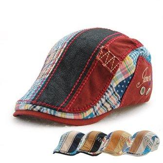 Erkekler Kadın Pamuk Yıkanmış Beret Şapka Tokalı Ayarlanabilir Kağıt Boyu Gazinosu Cabbie Golf Beyefendi Şapkası