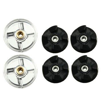 2pcs Plastic Gear Base and 4pcs Rubber Gear For Magic Blender Spare Parts Replacement