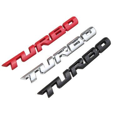 Decalques do carro do metal do turbocompressor 3D que rotulam a etiqueta do emblema para a bagageira traseira da auto corpo