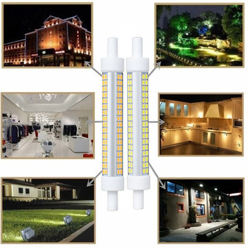 AC220-240V 10W Dimmable R7S SMD2835 102LED Floodlight Corn Bulb for Indoor Outdoor Home Decoration