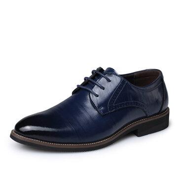 Scarpe stringate da uomo in pelle Scarpe da lavoro formali a punta