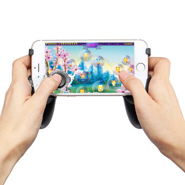 5-in-1 Snap-on Type Game Controller Mobile Gamepad Joystick Fire Button Shooter Controller for Phone