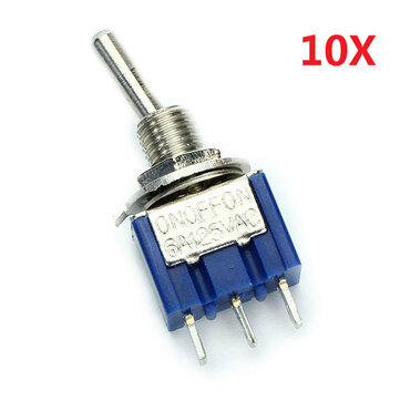 3 perni di alternare interruttore on / off / on SPDT 10pcs MTS-103 AC 125V 6A wendao