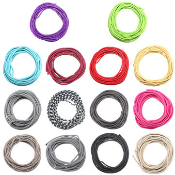 10M Vintage Colorful Twist Braided Fabric Cable Wire Electric Pendant Light Accessory