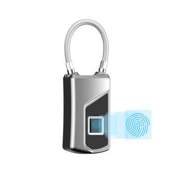 IPRee® USB Inteligente Eletrônico Fingerprint Padlock À Prova D 'Água Anti-roubo Mala Bolsa Bloqueio de Segurança de Viagem Ao Ar Livre