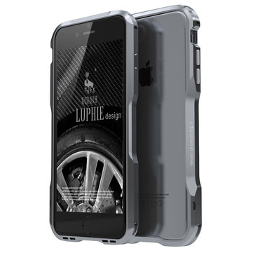 Luphie Metal Frame Case With Dust Plug For iPhone 7/7 Plus & 8/8 Plus