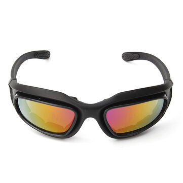 Men Women UV400 Sunglasses Motorcycle Driving Glasses Goggles Sports Riding With 4 Lens