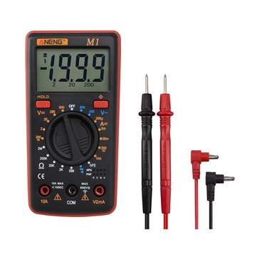 ANENG M1 Handheld Digital Multimeter AC/DC Voltage Current Resistance Transistor Continuity Test Overload Protection