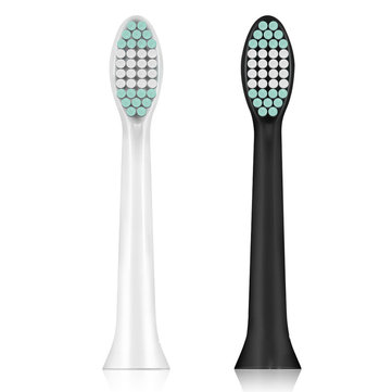 2pcs Toothbrush Heads for ED8000 Electric Toothbrush Replacement Head Black or White