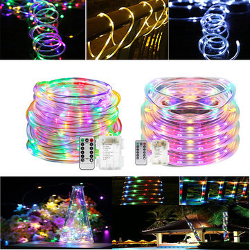 ARILUX® Battery Powered 5M 10M Copper Wire LED Rope Fairy String Light For Christmas +13Keys Remote