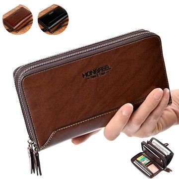 PU Clucth Wallets Handy Bags Phone Card Holder Wallet for Men