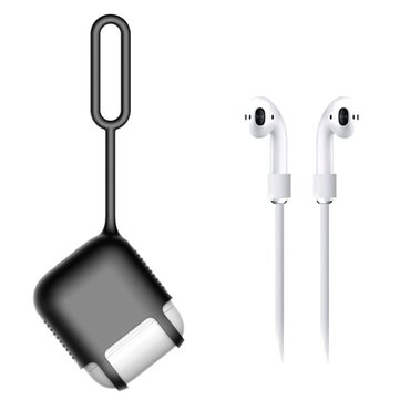 Bakeey Portable Anti-lost Dustproof Case With Strap For Apple AirPods