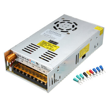 HJS Switching Power Supply Transformer Adjustable AC 110/220V to DC 0-48V 10A 480W with Digital Display