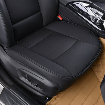 Universal 53x50cm Black PU Leather Front Car Seat Cover Chair Cushion Protector Pad Mat