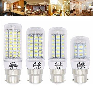 B22 5 W 6 W 7 W 8 W 10 W 12 W Ultra Parlak SMD5730 LED Mısır Ampul Lamba Avize Işık AC110V
