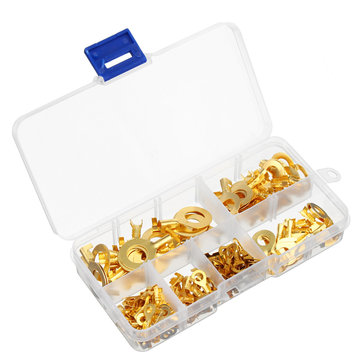 150PCS Insulated Crimp Ring Terminals Wire Connectors Spade Electrical Equipment Kit And Box