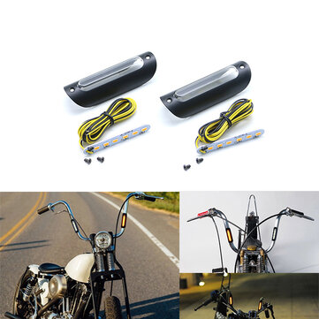 22mm 25mm Motorcycle Amber Signal Light For Harley Glide Touring For 12 16 In. Fat Mini-Ape/Batwing Mini-Ape Handlebar