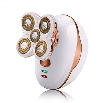 5 cabezas recargables sin cable eléctrica Navaja afeitadora cabeza calva Cabello Clipper Trimmer