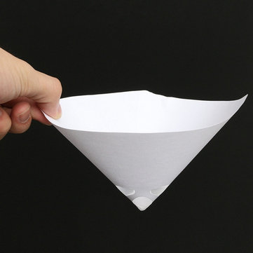 50pcs 100 Mesh Paper Paint Strainer Nylon Full Flow Conical Cone Filter Funnel