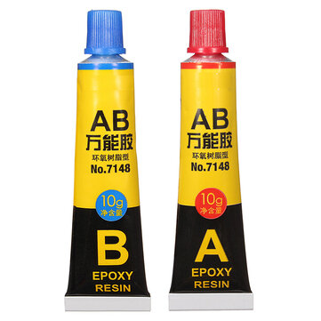 2Pcs AB Glue Epoxy Resin Adhesive Glue For Glass Metal Ceramic 10g