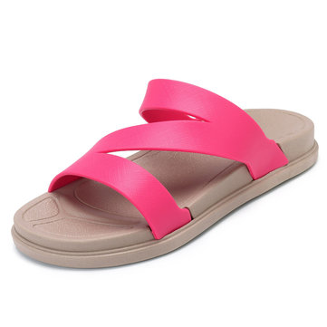 Women Comfortable Casual Peep Toe Flat Sandals