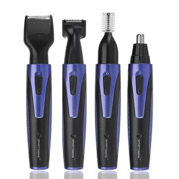 4 em 1 USB Sem Fio Recarregável Sobrancelha Trimmer Nariz Cabelo Shaver Navalha Kit Groomer