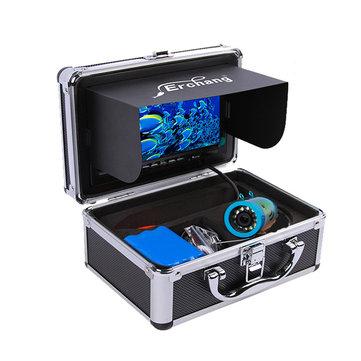 Erchang 7 inç LCD Ekran 1000TVL Sualtı HD Kamera 24 LEDs Lamba Görünür Balık Bulucu 15 M