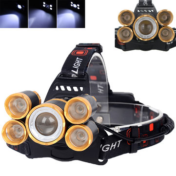 XANES 7310-B 2500 Lumens Bicycle Headlamp 4 Switch Modes T6+ 4XPE White Light Mechanical Zoom