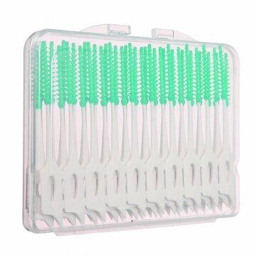 40шт межзубные между зубами зубочистка кисти эластичная массажа десен зубочисткой
