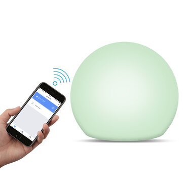Bakeey RGB WIFI Smart  Touch Light Music Color Brightness Adjustable Decoration Lamp Google Assistant Amazon Alexa Voice Control Bulb Compatible With Tuya APP