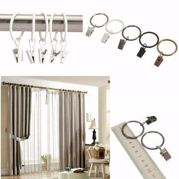 40pcs Metall Fenster Badezimmer Vorhang Clips Ringe Pole Rod Voile Drapierung 32 mm Innendurchmesser