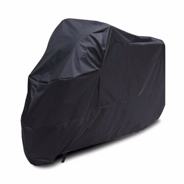 XXXL Black Motorcycle Cover Waterproof 295x110x140cm For 400cc-1000cc Motorcycle