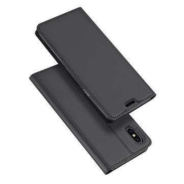 DUX DUCIS Protective Case For iPhone XS Max Magnetic Flip Wallet Card Slot Kickstand