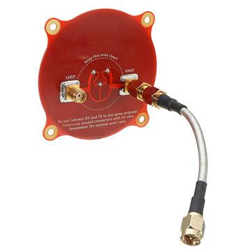 Realacc Triple Feed Patch-1 5,8GHz 9,4dBi Antena Pagoda FPV Direcional Circularmente Polarizada
