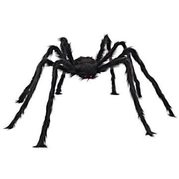 5FT/150cm Hairy Giant Spider Decorations Huge Halloween Outdoor Decor Toys for Party