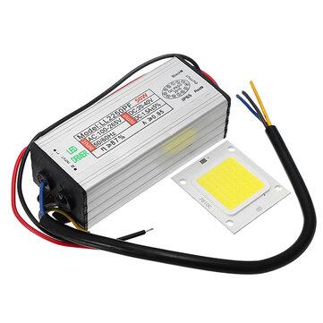 AC100-265V para DC20-40V 50W Waterproof LED Driver Alimentação com chip SMD