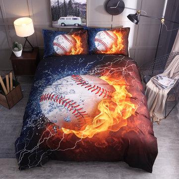 3шт комплекты постельного белья постельное белье с принтом бейсбол пододеяльник наволочка декор