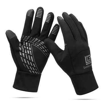 Men Women Warm Waterproof Cycling Sport Luvas Touch-screen Full Finger Mittens de esqui
