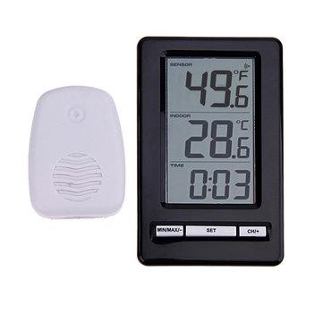 دانيو TS-WS-47 اللاسلكية رقمي ميزان الحرارة داخلي درجة الحرارة متر وقت عرض ساعةحائط الجدول الوقوف محطة الطقس