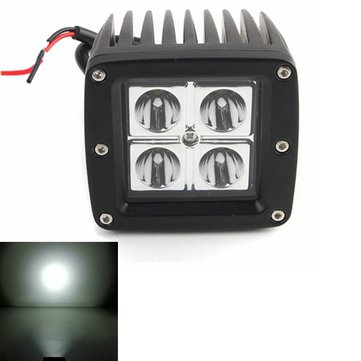 6500K White Waterproof IP67 LED Work Light For ATV Boat SUV Off Road
