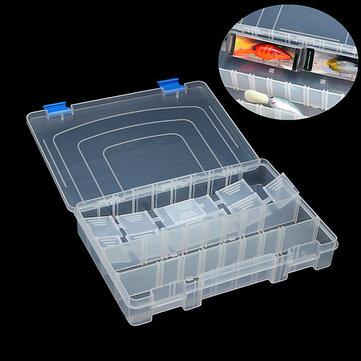 3 отделения прозрачный пластик рыболовные снасти окно with10 регулируемыми разделителями