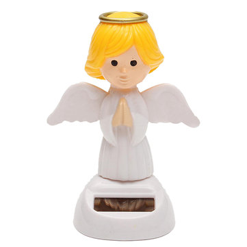 solare Powered Toy Bobble Head Moving Wings Dancing Angel