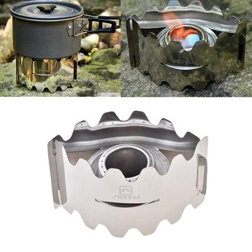 AOTU Outdoor Camping Mini Cooking Stove Foldable Alcohol Stove Set With Windshield