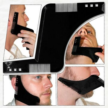 Bart Grooming Shaping Kamm zum Rasieren Symmetrische Bärte Shaper Styling Template Kit Guide