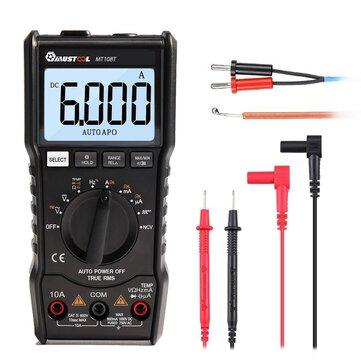MUSTOOL Saída da Onda Quadrada MT108T True RMS NCV Testador de Temperatura Multímetro Digital 6000 Counts Backlight AC DC Corrente / Tensão Resistência Freqüência Capacitância