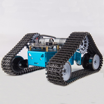 Kittenbot DIY RC Robot Car Tank Plastic Crawler Belt Educational Kit With DC Motor
